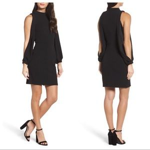 Charles Henry | Split Sleeve Black Dress Sz Medium